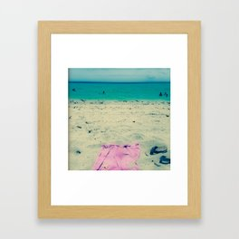 I'll be in the Ocean Framed Art Print