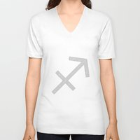 sagittarius V-neck T-shirts featuring Sagittarius by David Zydd