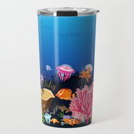 Beautiful Coral Reef Animals Travel Mug