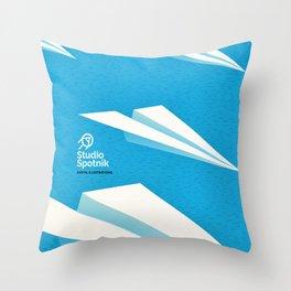 Paper squadron Throw Pillow