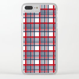 Plaid pattern Clear iPhone Case