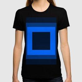 Navy Blue Square Design T-shirt