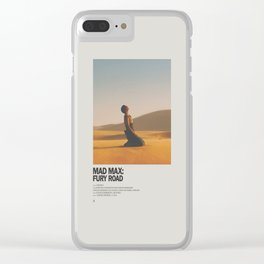 Mad Max Fury Road Minimal Movie Poster No 01 Clear iPhone Case