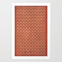 Circle Pattern Geometric Art Print