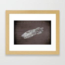 Battlestar Galactica BSG minimalist Galactica Framed Art Print