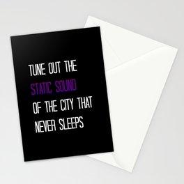 Static Sound Stationery Cards