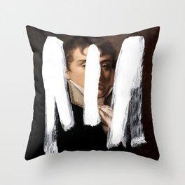 Brutalized Portrait of a Gentleman 2 Throw Pillow