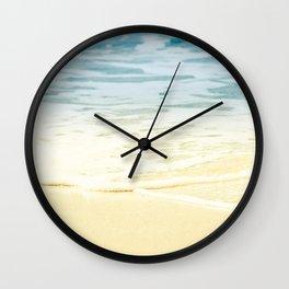 Kapalua Beach dream colours sparkling golden sand seafoam Maui Hawaii Wall Clock