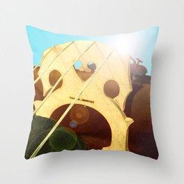 Cello Bridge Flare Throw Pillow