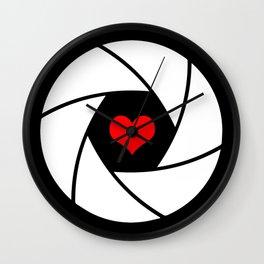 Aperture love Wall Clock