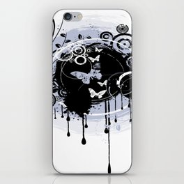 Butterfly Black And White Butterfly Art iPhone Skin