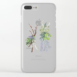bouquets Clear iPhone Case