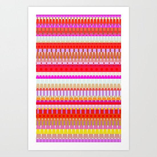 Color Stripes 1 Art Print