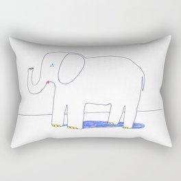 an elephant Rectangular Pillow