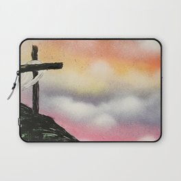 Colorful Sunset Cross Laptop Sleeve