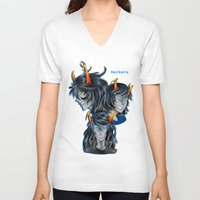 homestuck V-neck T-shirts featuring HS Serkets by WagonWaggles