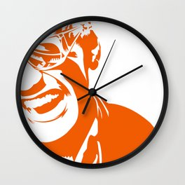 Ray Charles – Orange Wall Clock