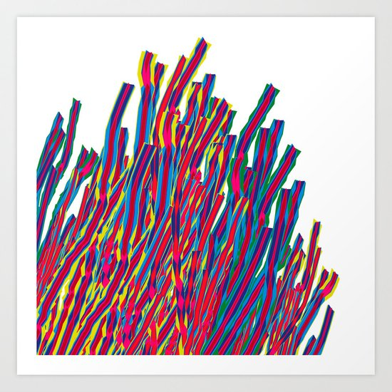 ribbons attack Art Print