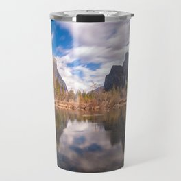 Clouds over Valley View, Yosemite, California Travel Mug