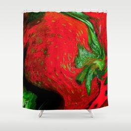 Strawberry Fruit Art Deco Shower Curtain