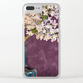 Lilac and Bottle Clear iPhone Case