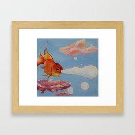 candy cloud Framed Art Print