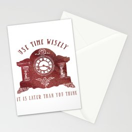 Timewise Vintage Clock Stationery Cards