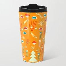 Joyful Christmas pattern Metal Travel Mug