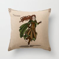 valar morghulis Throw Pillows featuring Nessa by wolfanita