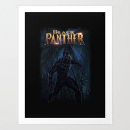 T'Challa , The Black Panther Art Print