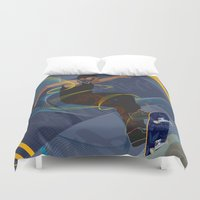 skateboard Duvet Covers featuring Project Skateboard by Martin Orme