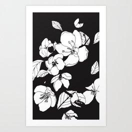Blossoming Crabapple Flowers Art Print