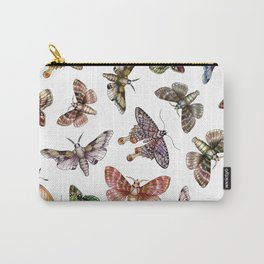 A Multitude Of Moths - Colorful Moth Pattern Carry-All Pouch
