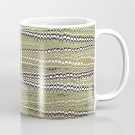 Electrified Ripples Olive Green Coffee Mug