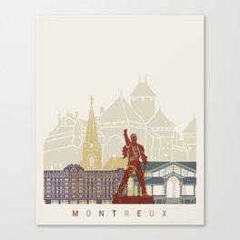 Montreux skyline poster Canvas Print