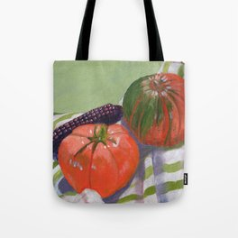 Pumpkin, Tomato and Corn Still Life Tote Bag
