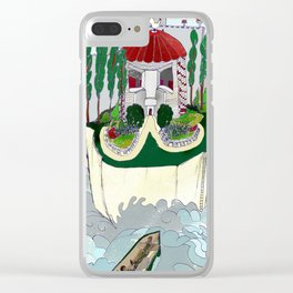 Grey Castle Clear iPhone Case