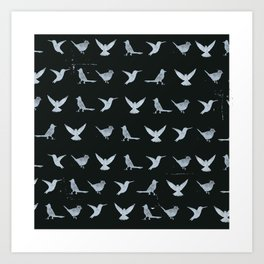 Black & White Silhouette Art Print