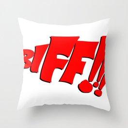 1966 Bat TV Show BIFF!!! Art Throw Pillow