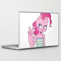 mlp Laptop & iPad Skins featuring Pinkie Pie Anthro Peace Sign MLP by oouichi