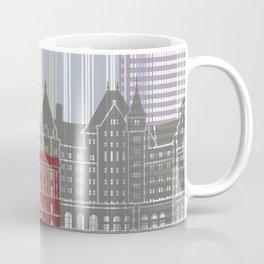 Edmonton skyline poster Coffee Mug