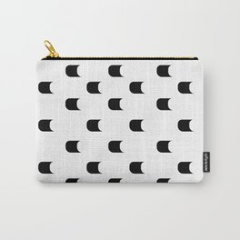 black and white 3d dots Carry-All Pouch
