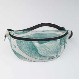Fox Pattern Fanny Pack