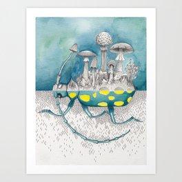 What is Life? Beetle / Mushroom Painting Art Print