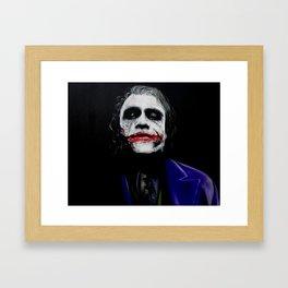 """The Joker """"Heath Ledger"""" Framed Art Print"""