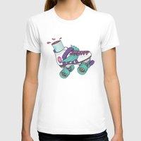 roller derby T-shirts featuring Roller Derby Motherf***er by Kiwii Illustration
