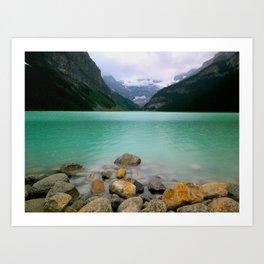 Rainy Day on Lake Louise Art Print