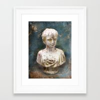 antique Framed Art Prints featuring ANTIQUE by INA Artist