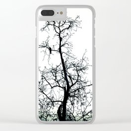 Bird In The Branches Clear iPhone Case