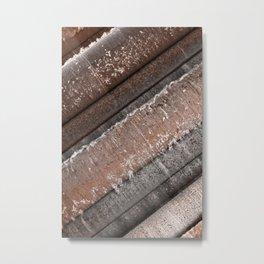 Abandoned Wool Press Metal Print